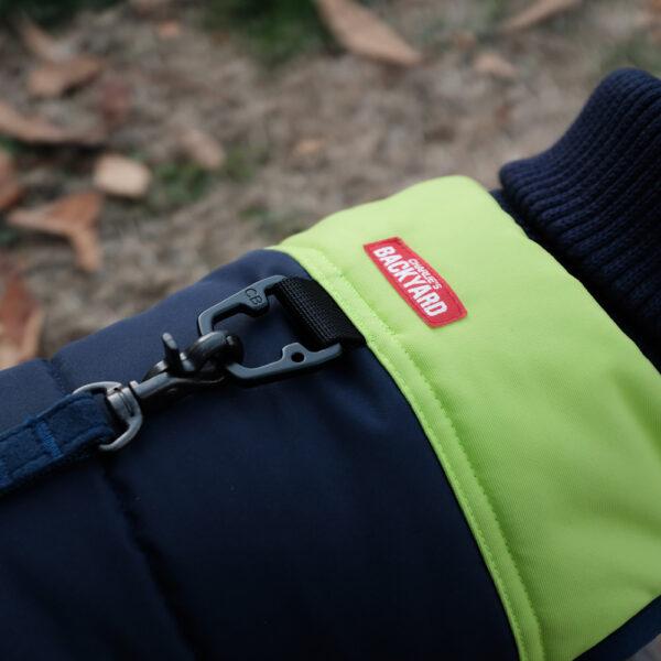 Pola Harness Jacket Yellow Verschluss